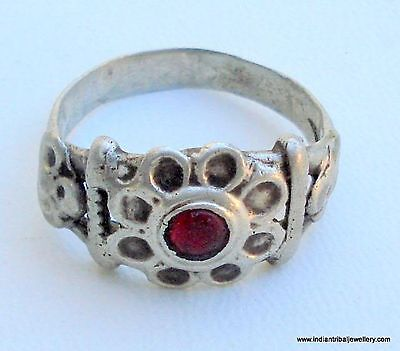 Vintage Antique Tribal Old Silver Ring Rajasthan India