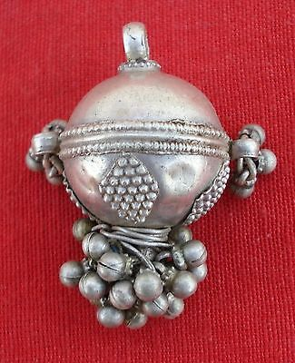 Ethnic Antique Tribal Old Silver Pendant Rajasthan