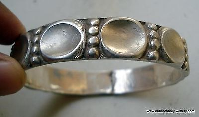 vintage antique handmade tribal old silver cuff bracelet bangle