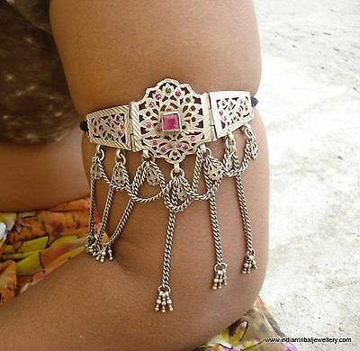 Vintage Antique Tribal Old Silver Armlet Rajasthan Indi