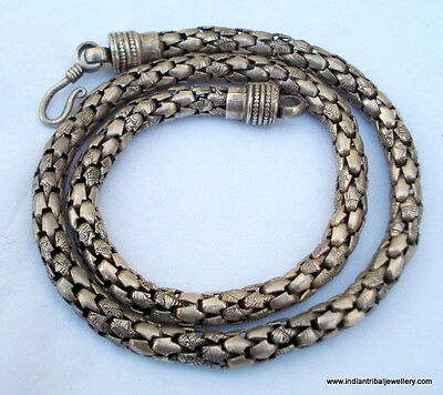 Traditional design silver Chain Necklace from Rajasthan India