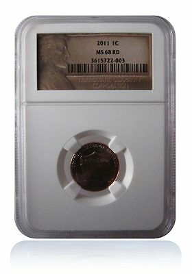 NGC MS68 RD Red 2011-P Lincoln Shield Cent Penny