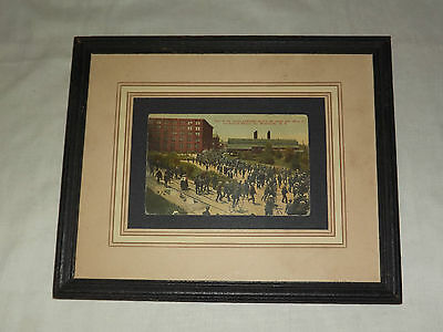 Vintage  Early 1900S General Electric Building Schenectady Ny  Framed  Postcard