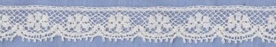 10mm  Cream French Leavers Lace