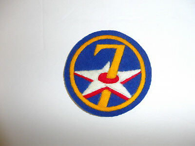b1086 WW 2 US Army 7th Air Force patch  hand embroidered on wool