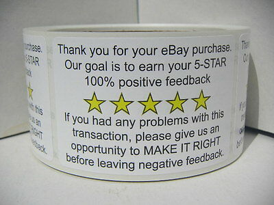 Thank You for your eBay Purchase/FB 2x3 Stickers Labels 250/rl