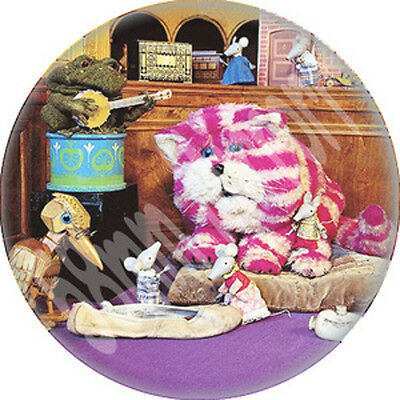 Bagpuss & Friends Pocket MIRROR Vintage TV show Soft Furry Cat Puss New
