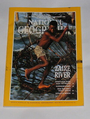 National Geographic Magazine November 1991 - Zaire River