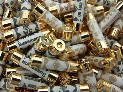 Gold Over Silver Plated Audio Grade Bussmann Fuse | 13 Amp | Uk Plug Fuses