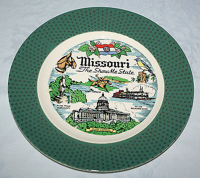 Missouri Show Me State Homer Laughlin Cavalier Collector Plate USA J52N5