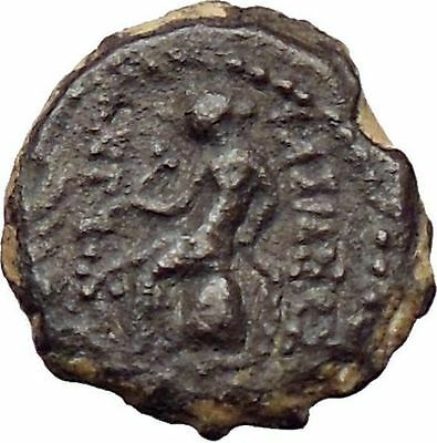 ANTIOCHUS VI Dionysos Seleucid King 145BC Nude Apollo Ancient Greek Coin i29902