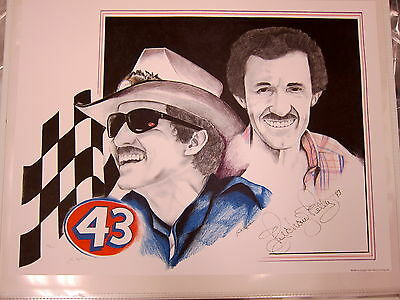 Richard Petty Autographed Limited Edition Nascar Champion #43 Lithograph