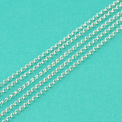 925 Sterling Silver Bulk Rolo Chain 1.5MM  link