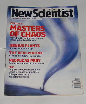 New Scientist Magazine 27Th July 2002 - Masters Of Chaos