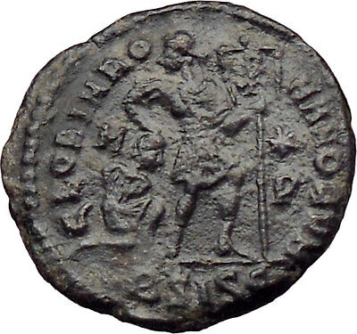 VALENTINIAN I 375AD  Ancient Roman Coin Chi-Rho Labarum Christ Monogram  i2995