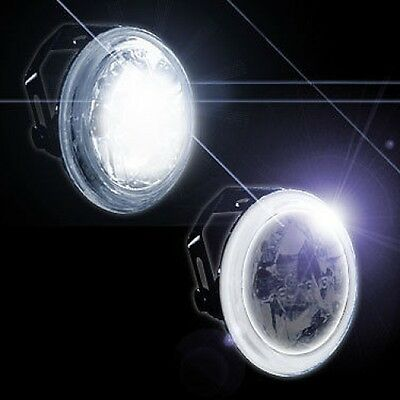 "3"" Inch 76Mm Fog & Driving Motorcycle Lights W/ Ccfl White Halo Angel Eye"