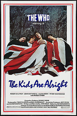 THE KIDS ARE ALRIGHT original 1979 poster THE WHO/KEITH MOON one sheet 27x41