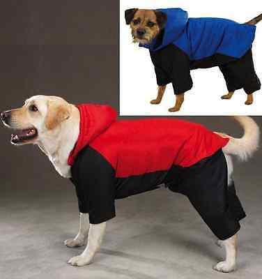 SNOWSUIT Dog Ski Jacket Snow Winter Coat with Removable Legs & Hood ALL SIZES