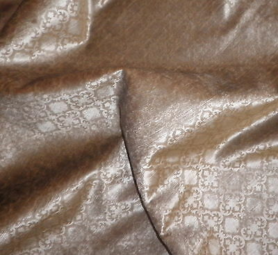 ROSE CUMMINGS Verdi Camel Printed Velvet 1 yds. + New