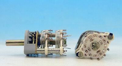 RFT Paladium Contacts / Germany Made Rotary Switch 2P 11T 2P11T 2 pole 11 throw