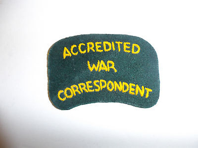 c0066  Australian Accredited War Correspondent Shoulder patch