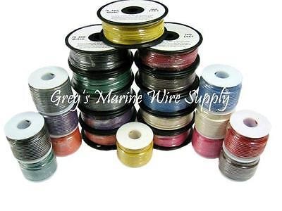 14 AWG Tinned Marine Primary Wire ( 14 Colors ) Starting at 25ft. up to 1000ft.