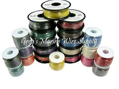 8 AWG Gauge Tinned Marine Primary Wire 25 up to 1000 Feet