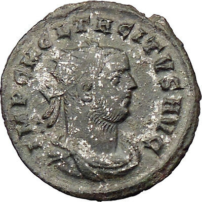 Tacitus receiving wreath from Victory 275AD Silvered Ancient Roman Coin i30124