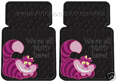 2 CHESHIRE CAT  Alice's Adventure DREAMLAND CAR TRUCK SUV FLOOR MATS MADE IN USA