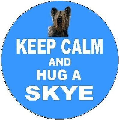 2 Skye Terrier Dog Car Stickers (Keep Calm & Hug) By Starprint