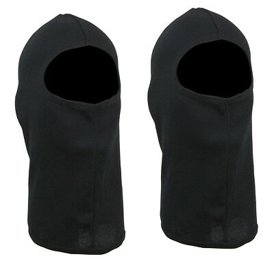 Balaclava Full Face Mask Black - Poly/Cotton Blend - Pack of 2 - Adult