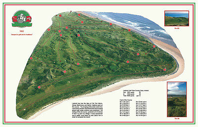 Lahinch 1892 Old Tom Morris - Vintage Golf Course Map