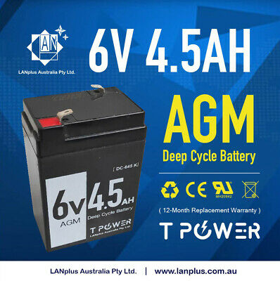 6V 4.5AH UPS SLA battery - brand new 6 volt High Rate > 4AH Toy Electric Bike