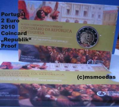 Portugal 2 Euro Gedenkmünze 2010 Republik Euromünze Coin Set Blister Official PP
