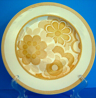 Dinner Plate J&G Meakin England Nouveau Country Delft retro Yellow Flowers 70's