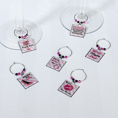 Bachelorette Party Wine Charms