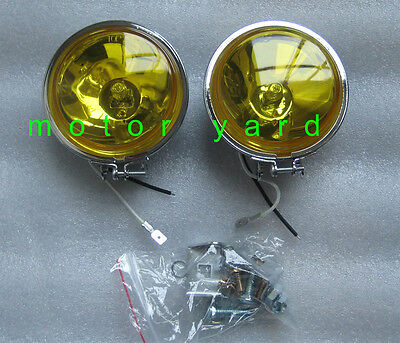 Motorcycle Motorbike Driving Lights / Spot Lights / Fog Light - Yellow
