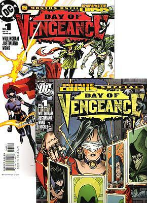Day of Vengeance  1  -2nd and 3rd prints variants (2 comics)     DC 2006