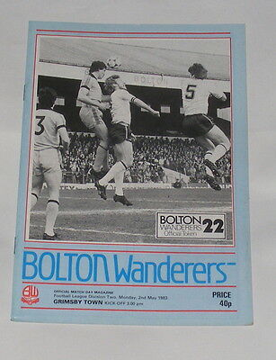 Bolton Wanderers -v- Grimsby Town 1982-1983