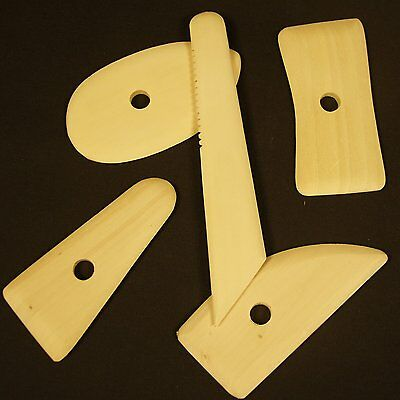 Set of 5 Jakar Wooden Potters Rib Clay Modelling Tools