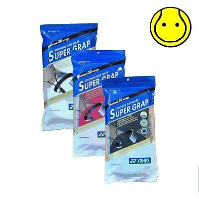 3 x Yonex Super Grap Overgrip 30 Pack Tennis Over Grip:  Total 90 Overgrips