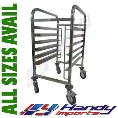 STAINLESS STEEL BAKERY GASTRONORM RACK TROLLEY BAKER BUN DOUGH 6 x 40X60 PAN E0