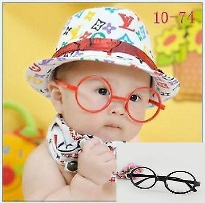 Baby Kids Children Plastic Eyeglasses Frame Party Costume Photography Prop