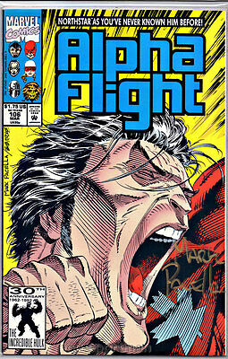 Alpha Flight #106 Northstar Reveals Gay Nm 2Nd Signed