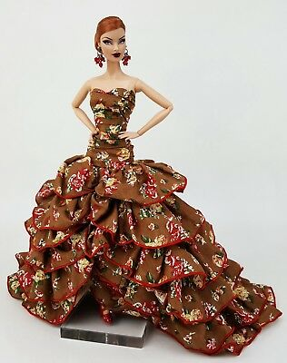 Eaki Dress Outfit Gown Clothes Fits Silkstone Barbie Fashion Royalty Candi FR