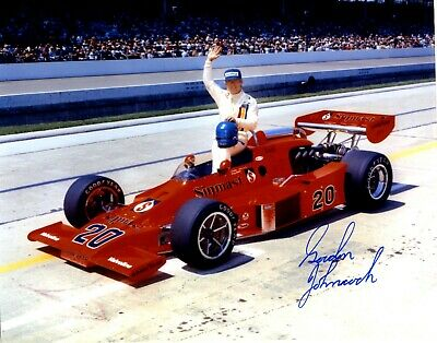GORDON JOHNCOCK AUTOGRAPHED 1975 QUALIFICATION  8 X 10   INDY 500  PHOTO Racing-Other