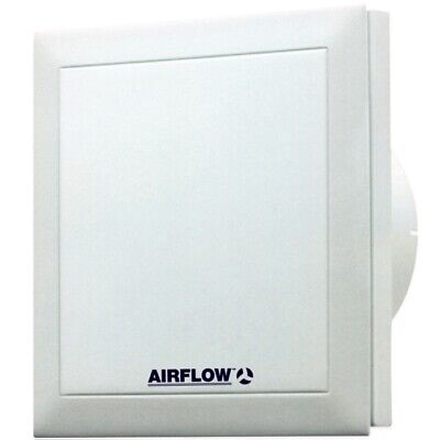 Airflow Quietair QT100HT 100mm Silent Humidity Bathroom Extractor Fan - 9041261