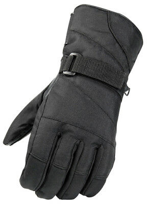Adult Leather Palmed Snowmobile Gloves Black Snow Glove