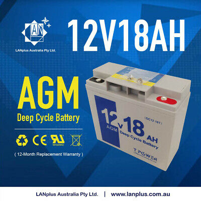 NEW 12V 18AH Sealed Lead-Acid Battery AGM> 17ah 4 UPS Solar Power Storage LED
