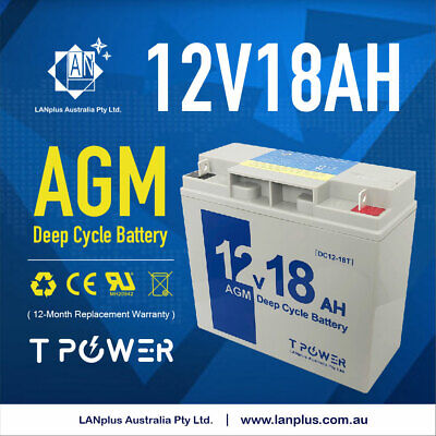 NEW 12V 18AH Sealed Lead-Acid Battery AGM > 17ah 4 UPS Solar scooter Jet Ski